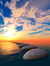 stones-sunset